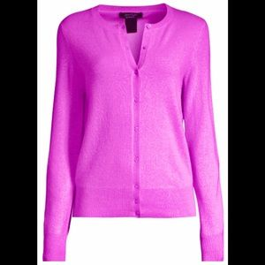 Lord and Taylor pink cashmere cardigan, SZ S
